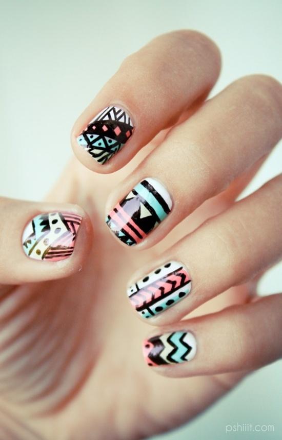 arte abstracto de uñas