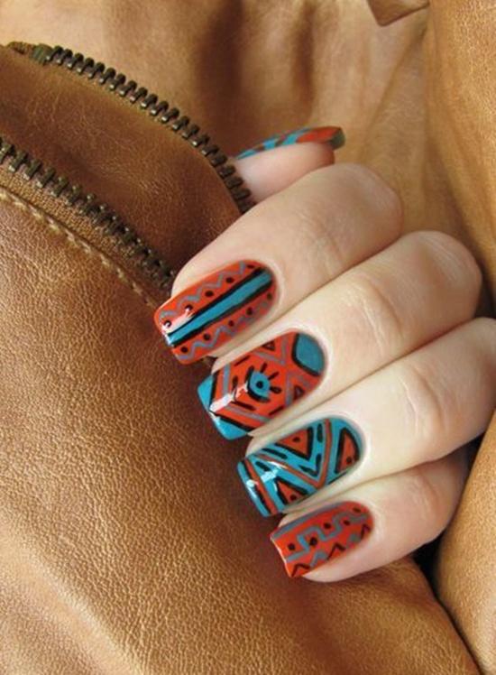 arte de uñas tribal